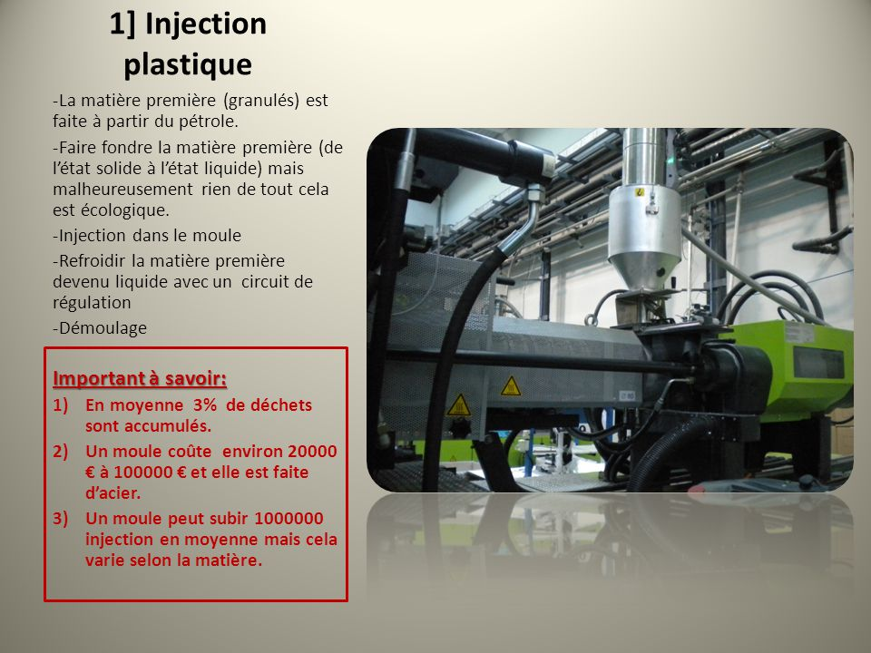 1] Injection plastique Important à savoir: